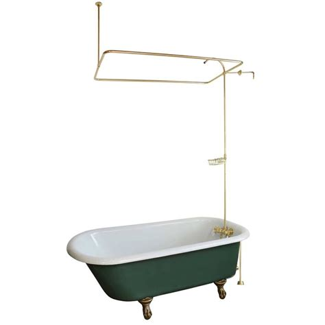 clawfoot tub with original shower hardware circa 1915 at