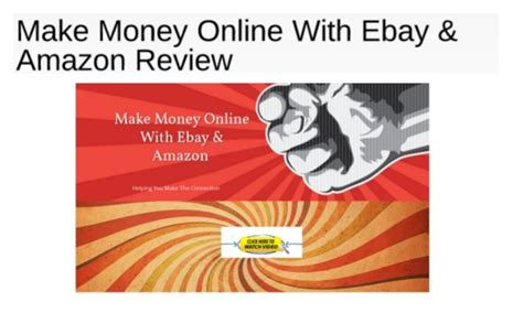 Online Money Making Reviews - make money online with ebay amazon review scam or not