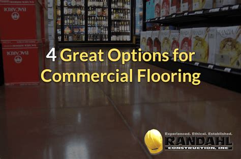 commercial flooring options randahl construction inc mn