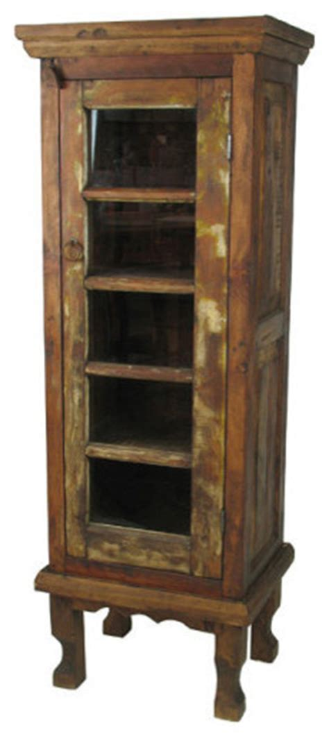 kitchen curio cabinet rustic wood curio cabinet eclectic kitchen cabinetry