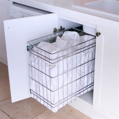pull out baskets for bathroom cabinets stainless steel pull out laundry baskets for storage