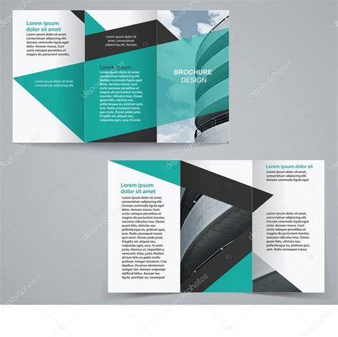 two sided brochure template tri fold business brochure template two sided template