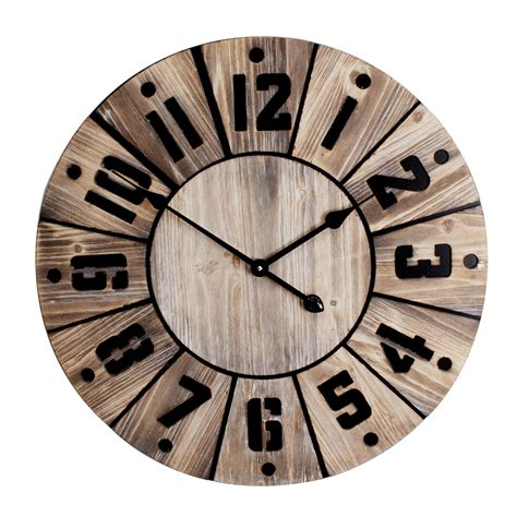 stylish wall clocks large stylish hometime wooden wall clock