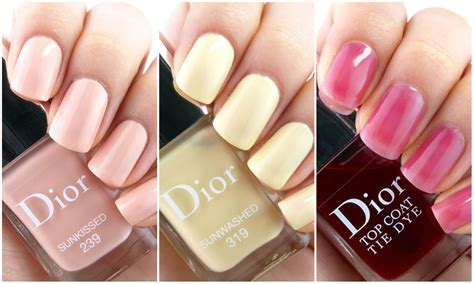 popular nailcolor 2015 dior summer 2015 tie dye collection nail polish review