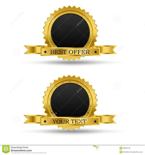award badge template golden award badge royalty free stock photos image 36961578