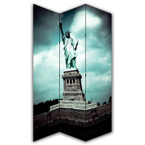 New York Room Divider Screen Statue Of Liberty Canvas Privacy Screen Folding 3 Panel Room Divider