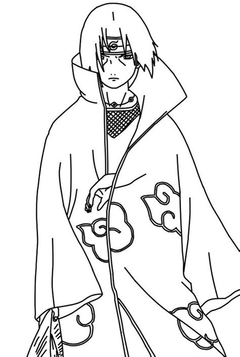 naruto coloring pages akatsuki naruto coloring pages uchiha itachi akatsuki coloringstar