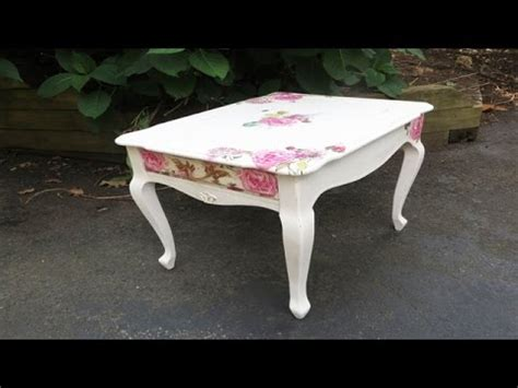 decoupage tutorial furniture how to decoupage furniture with napkins a table video this