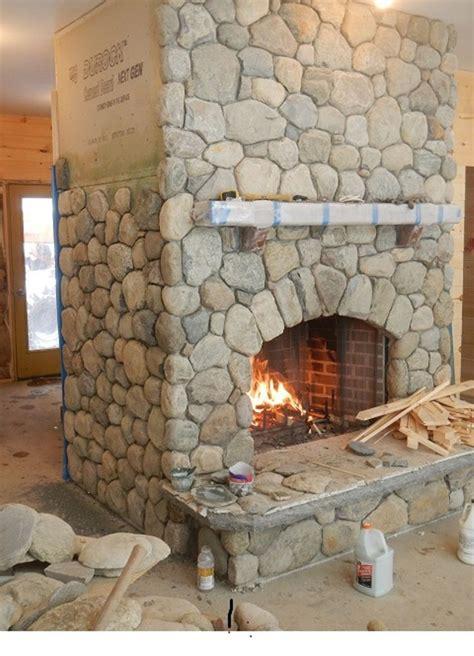 river rock corner fireplace www pixshark com images