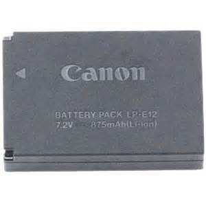 Canon Battery Pack Lp E12 canon lp e12 lithium ion rechargeable battery pack best price at bristol cameras