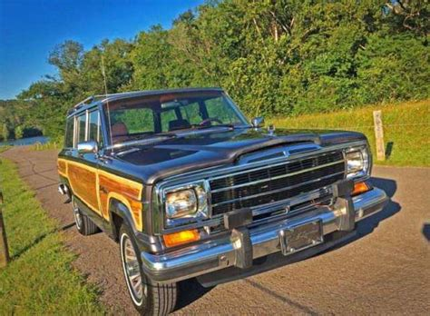 lowered jeep wagoneer low miles rust free 1989 jeep grand wagoneer 65 000 miles