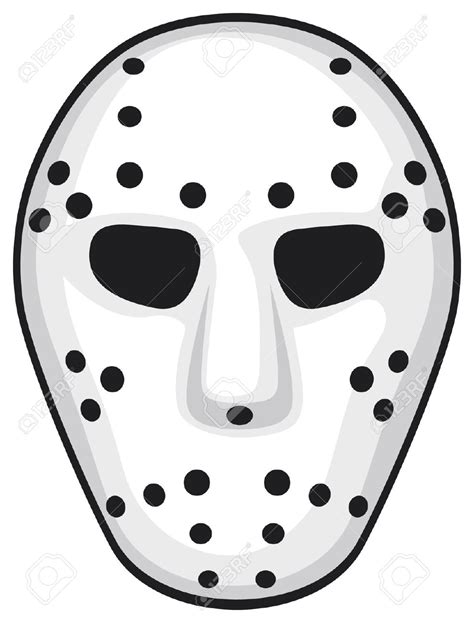 free printable jason mask masks clipart jason pencil and in color masks clipart jason