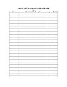 personal property inventory template 9 best images of personal asset inventory template