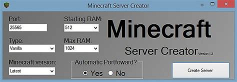 free server maker minecraft server creator minecraft project