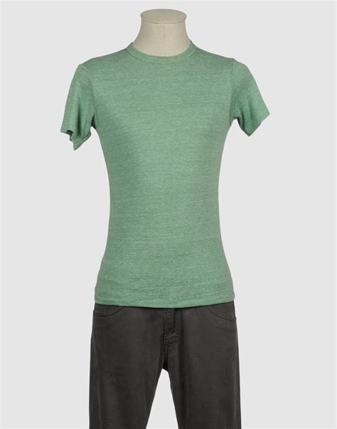 alternative apparel sleeve t shirt in green for