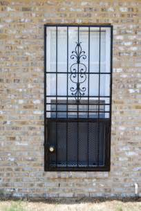 escape window bars with security screen interior or