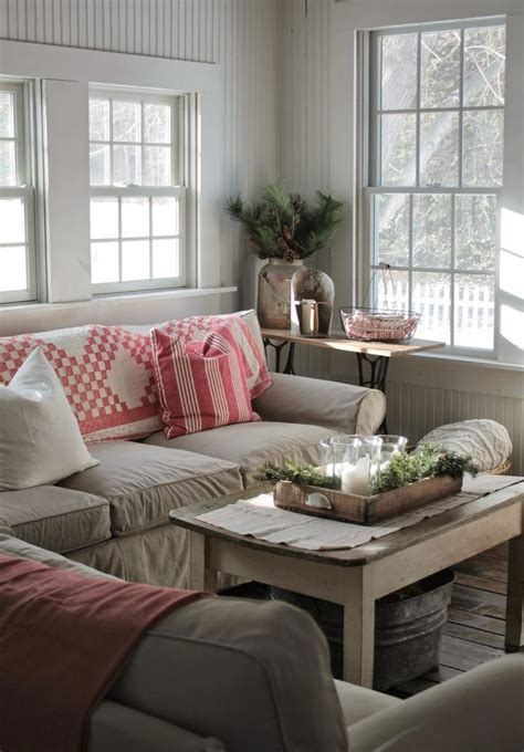 farmhouse style living room source pinterest