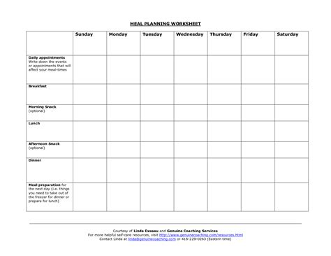 printable meal planning worksheets 19 best images of meal planning printable worksheets