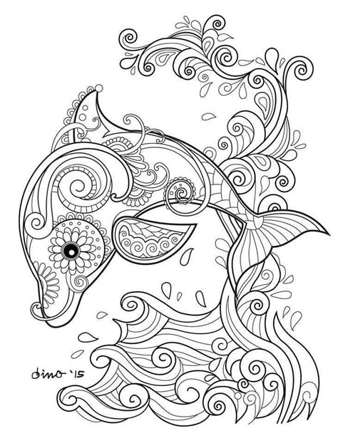 coloring pages for adults dolphins pin by chesney richardson on coloring pinterest