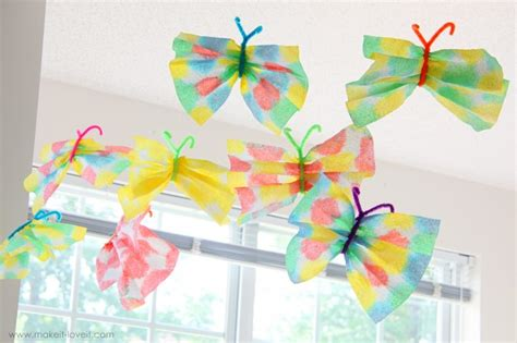 Craft Paper Butterflies - paper towel butterflies craft c skip to my lou