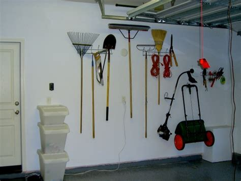 Hang Garden Tools In Garage by Garage Space For Living Organizing