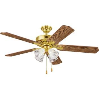 seasons brand ceiling fans seasons 52 quot dual mount ceiling fan polished brass tulip