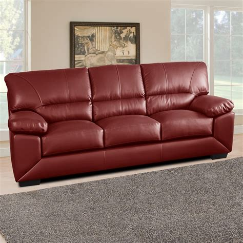 deep red sofa lenzari italian inspired 100 real leather sofa collection