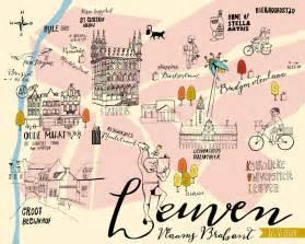 Home Design Drawing illustrated map of leuven els vlieger