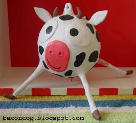 How To Make A Paper Mache Cow - paper mache cow paper mache