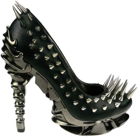 high heels with spikes spiked spine heel high heel black zetta shoe scuplted