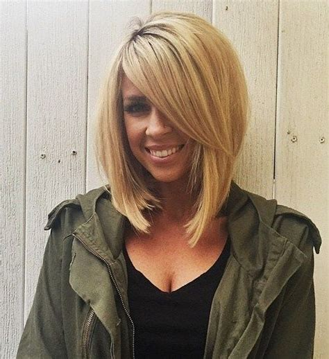 medium haircuts one side longer than the other 25 best ideas about stacked bob long on pinterest