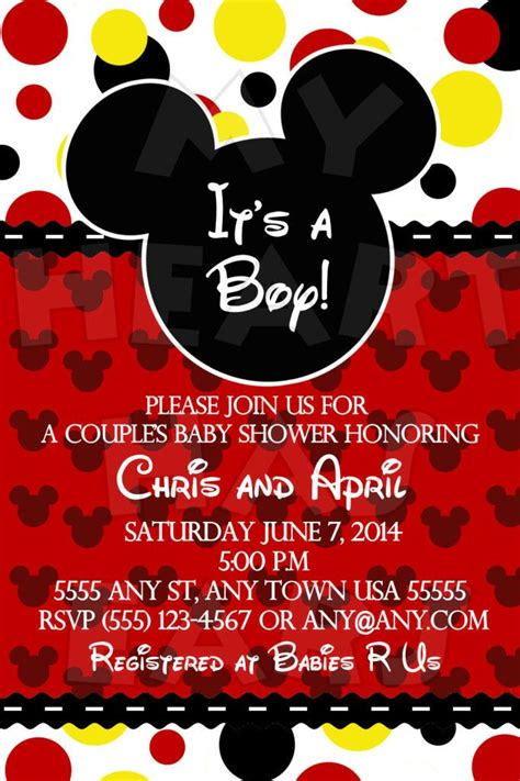 free mickey mouse baby shower invitation templates mickey mouse baby shower invitations marialonghi