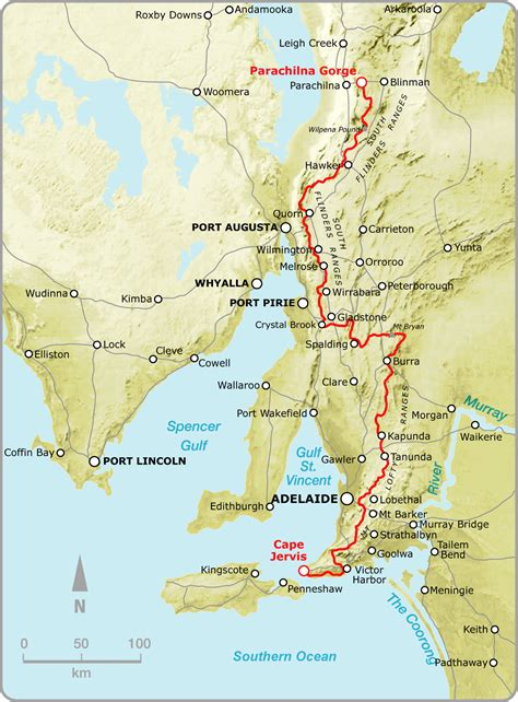 Section Maps South Australia by Maps Guidebooks Of The Heysen Trail