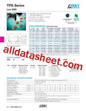 avx capacitor datasheet search avx capacitor datasheet search 28 images noja106m006 datasheet pdf avx corporation