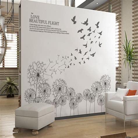wall wandtattoo large grey dandelions vinyl wall sticker decals modern