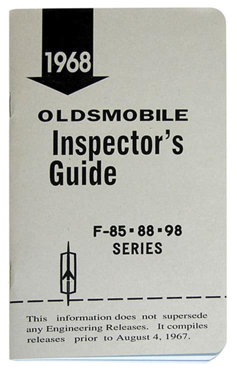 reference books for inspector line inspector guide book oldsmobile opgi