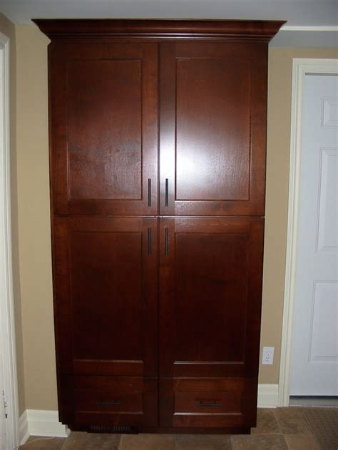 Pantry Cabinets With Doors by Custom Free Standing Kitchen Pantry Kitchen
