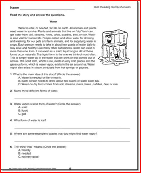 reading comprehension test for 4th grade reading comprehension 4th grade online popflyboys