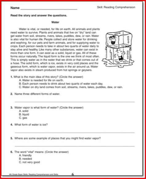 4th grade reading comprehension worksheets choice all worksheets 187 4th reading comprehension worksheets printable worksheets guide for children