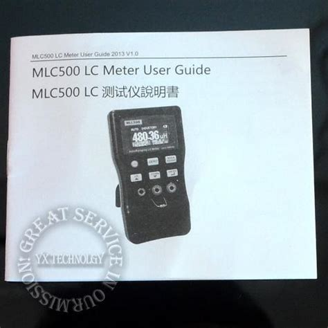 inductor and capacitor meter mlc500 high precision autoranging lc meter inductor and capacitor meter 1 accuracy 500khz test