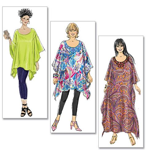 how to make a kaftan dress or top free pattern sew guide mccall s 6125 misses women s top tunic and caftan