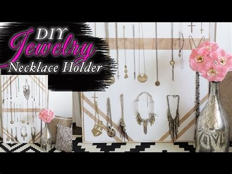 bohemian decorating ideas youtube diy wood necklace display cool jewelry display idea youtube