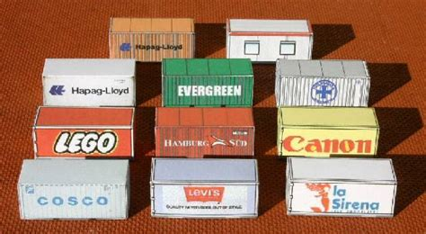 printable card models free printable ho scale shipping containers cargo