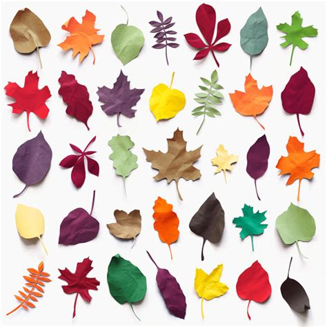 Paper Leaf Craft - paper leaves going home to roost