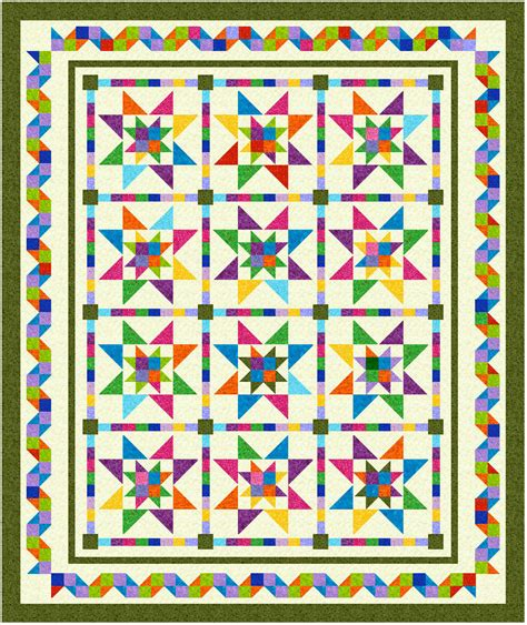 Patchwork Borders - pointy squares pieced border patchwork times by judy