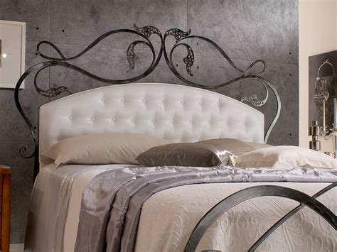 metal headboard bed infabbrica ethos wrought iron bed with tufted headboard