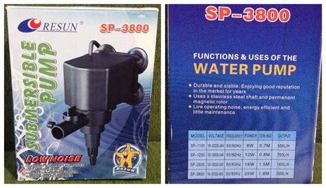 Pompa Aquarium 1 Meter jual pompa air aquarium resun sp 3800 cocok untuk