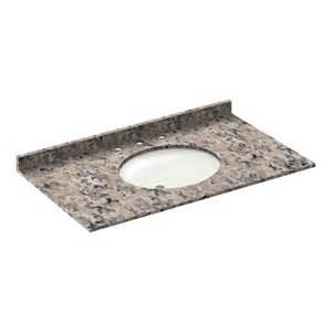 Granite Vanity Tops With Sink 43 43 In Granite Vanity Tops With Sink 8 In Spread Burlywood