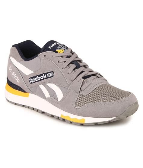 Reebok Gl 6000 1 reebok gl 6000 pp gray running shoes available at snapdeal