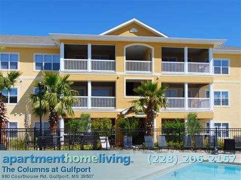 one bedroom apartments in gulfport ms the columns at gulfport apartments gulfport apartments